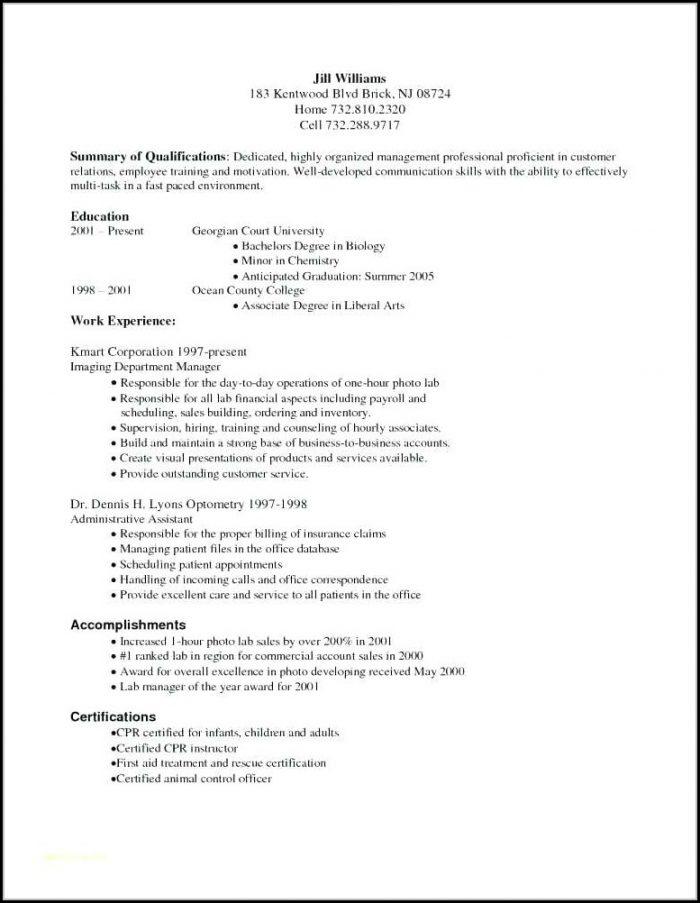 Entry Level Medical Billing And Coding Resume Sample - Resume