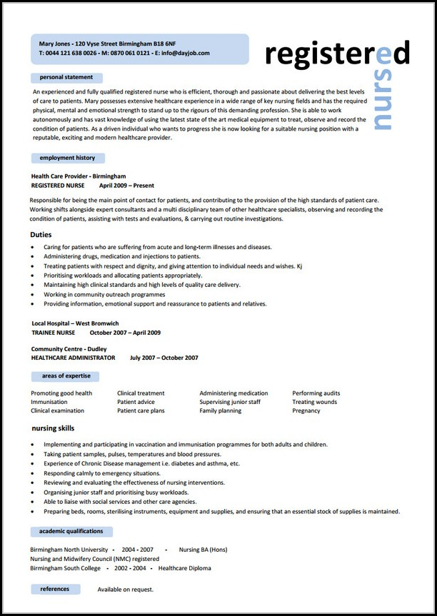 Nursing Resume Templates Word - Resume  Resume Examples #2A1WVqd8ze