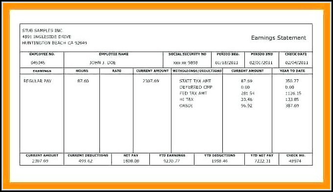 Blank Adp Pay Stub Template - Template 1  Resume Examples #O9x8rXyKdR