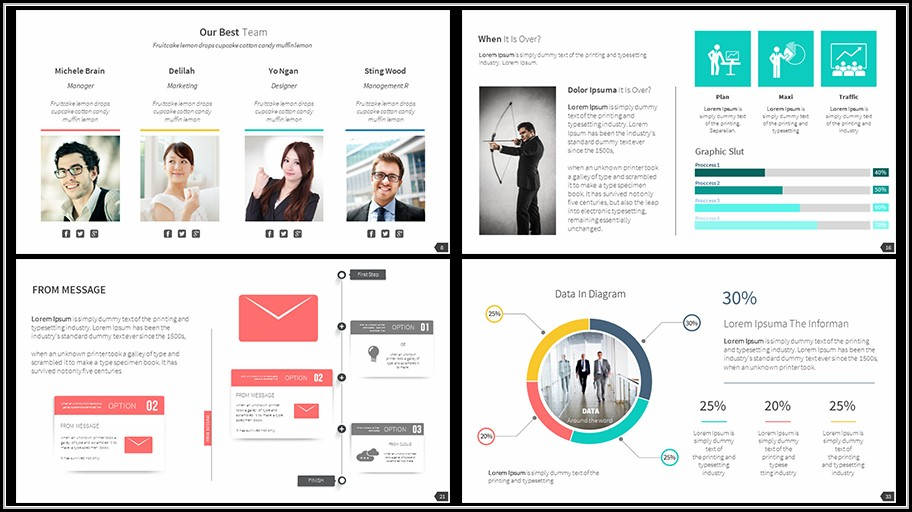 Business Proposal Powerpoint Template Free Download - Template 1