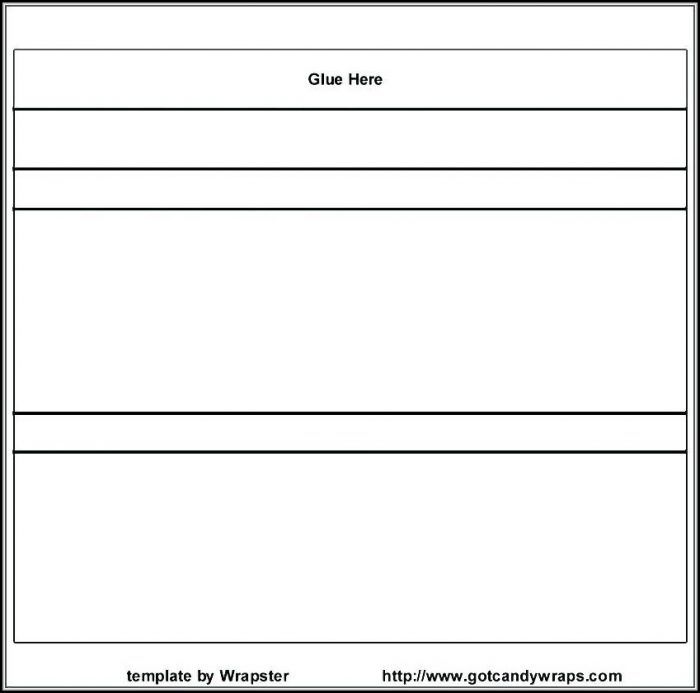 Free Blank Candy Bar Wrapper Template For Word - Template 1  Resume
