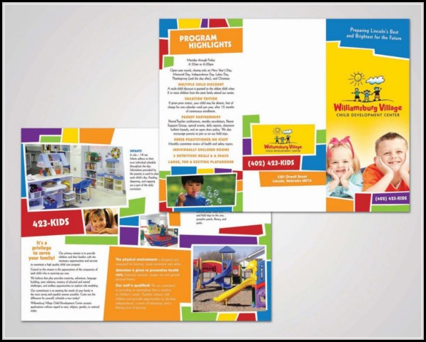 Child Care Brochure Templates Free Download - Template 1  Resume