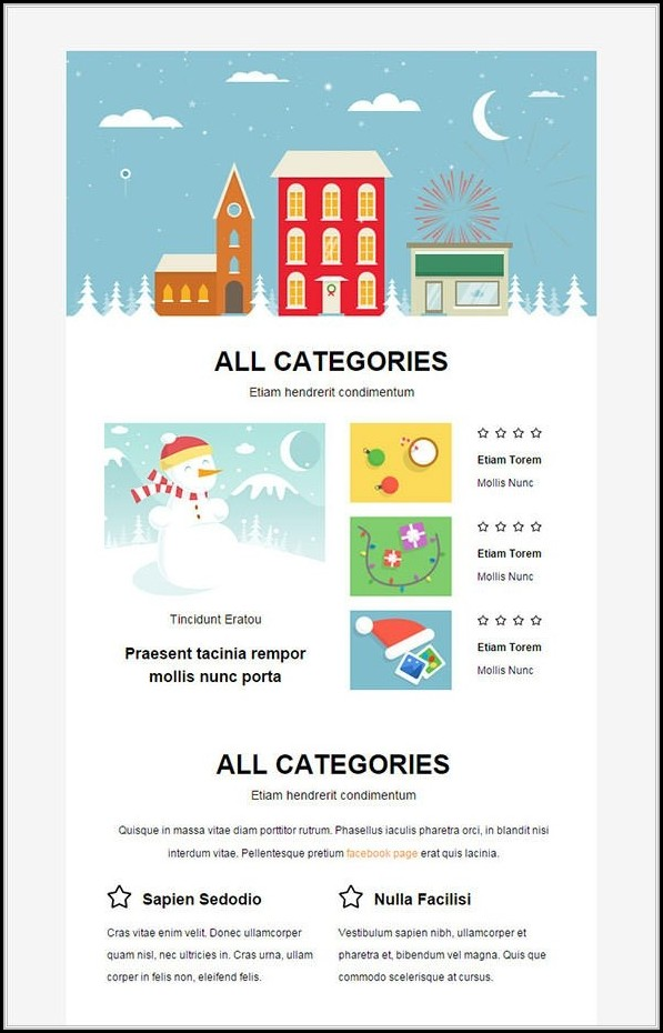 Christmas Newsletter Template With Pictures - Template 1  Resume