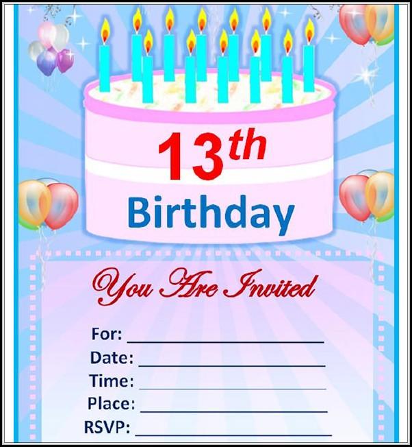 First Birthday Invitation Templates Word - Template 1  Resume