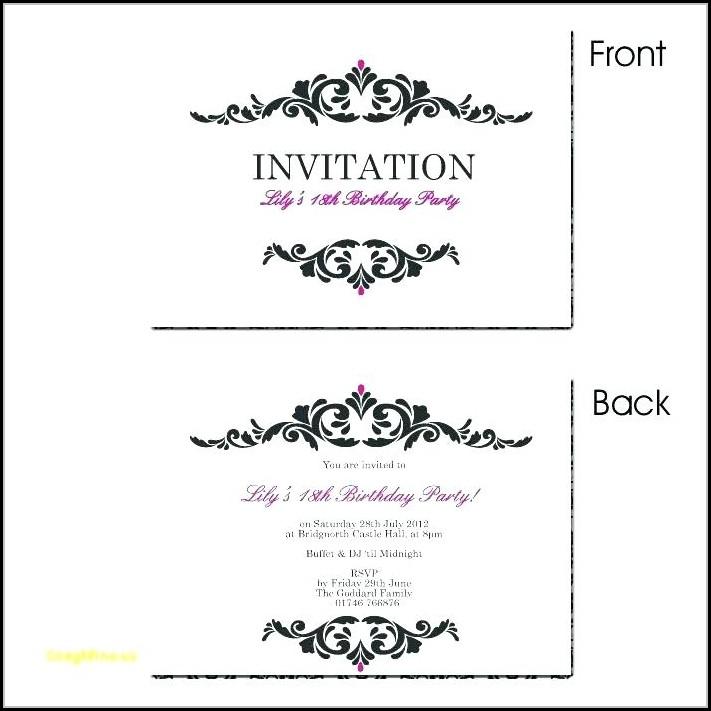Editable Unicorn Birthday Invitations Templates Free - Template 1