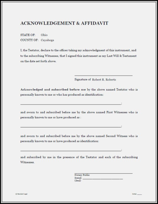 Free Printable Last Will And Testament Blank Forms Texas - Form