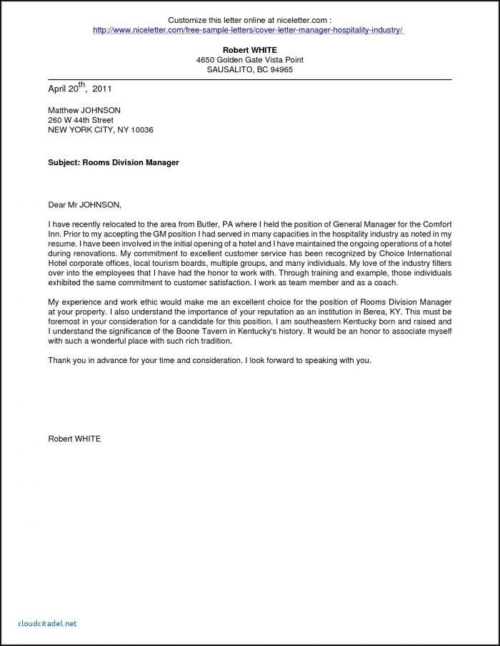Application Letter For Hotel And Restaurant Management Fresh