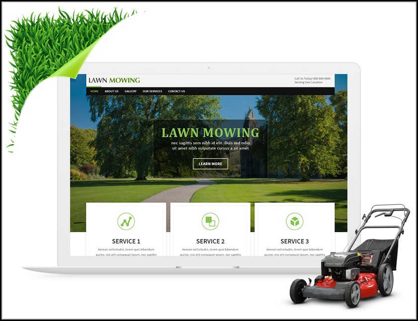 Lawn Care Website Templates Free - Template 2  Resume Examples