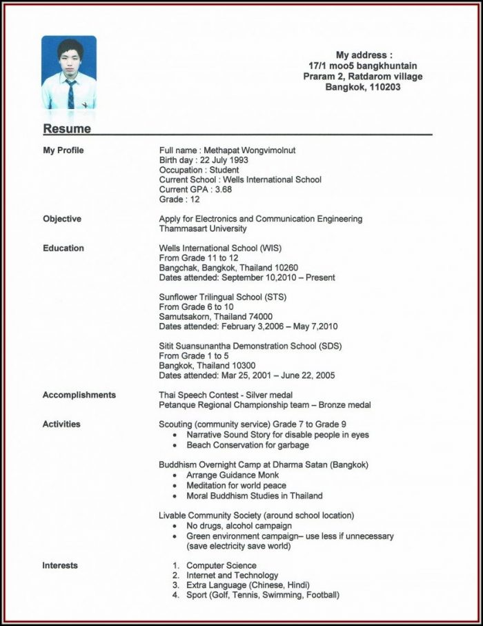 How To Make Resume For Job Of Teacher - Resume  Resume Examples
