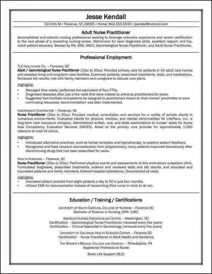 New Graduate Nurse Practitioner Resume Template - Resume  Resume