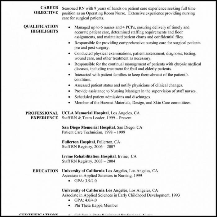 Registered Nurse Resume Template Download - Resume  Resume Examples