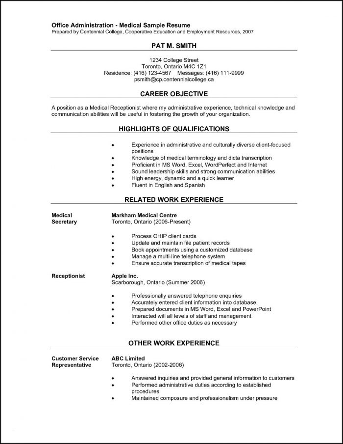 Free Medical Office Assistant Resume Templates - Template 2  Resume