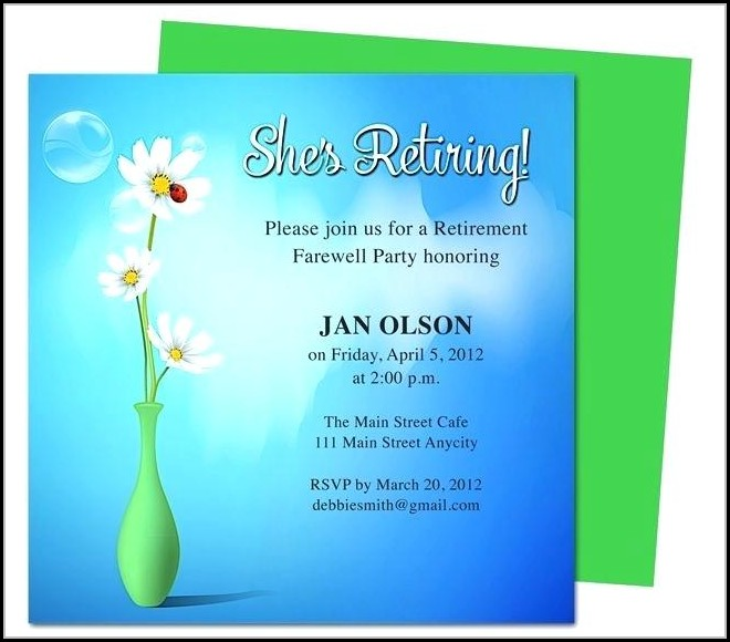Retirement Party Flyer Template Word - Template 2  Resume Examples