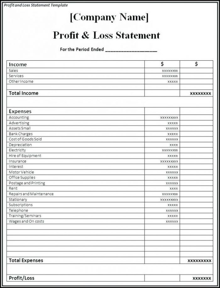 Daily Profit And Loss Excel Template - Template 1  Resume Examples