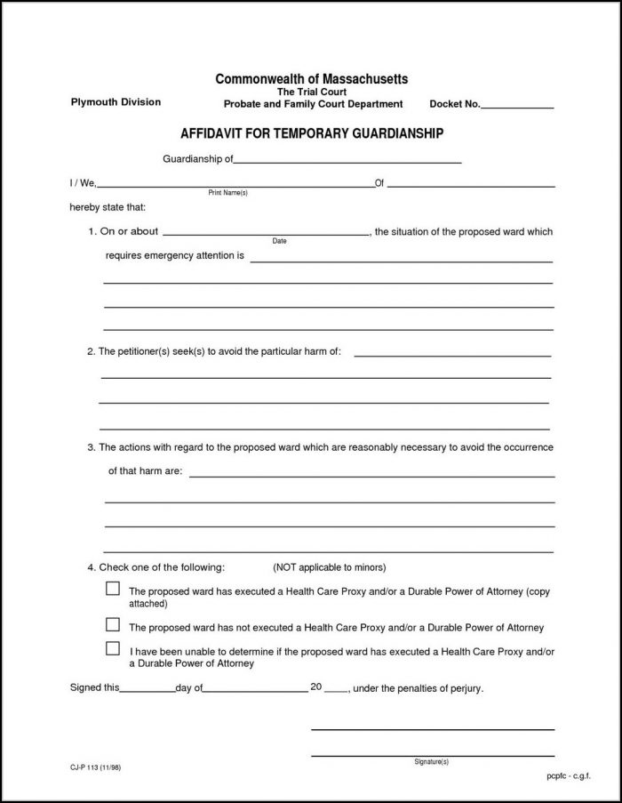 Temporary Guardianship Forms Texas - Form  Resume Examples #GxKkW2wK7A