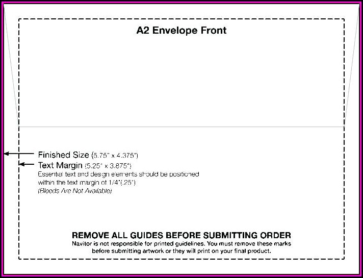 A7 Envelope Size Printing Template Word - Template 2  Resume