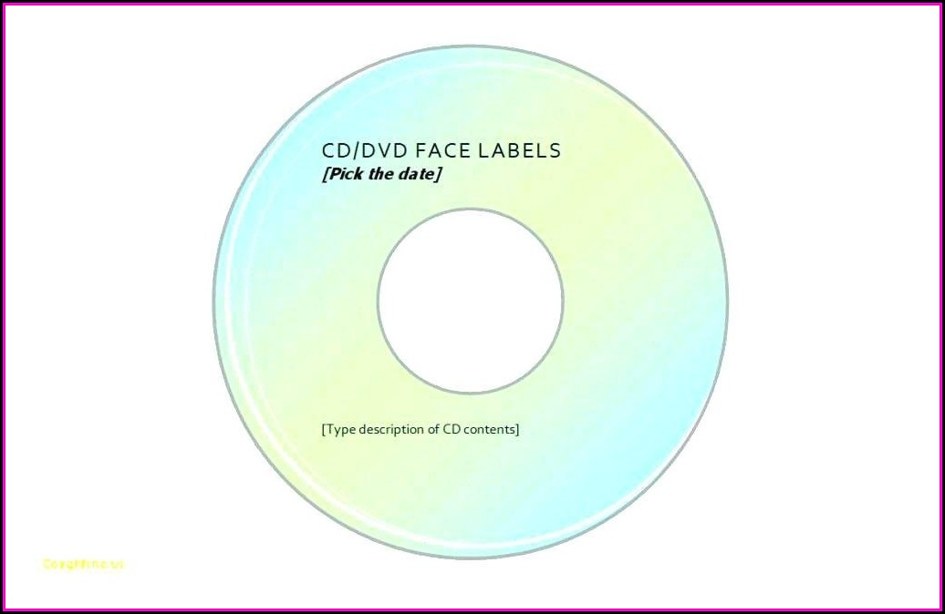 Avery Dvd Labels Template 8692 - Template 2  Resume Examples