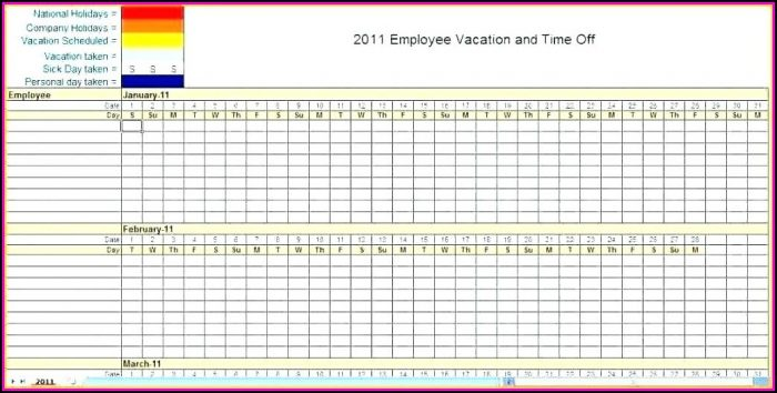 Best Monthly Employee Schedule Template Excel - Template 1  Resume