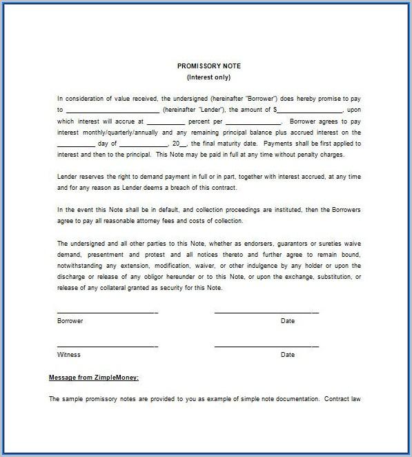 Blank Promissory Note Form - Form  Resume Examples #vq1PjvE3kR