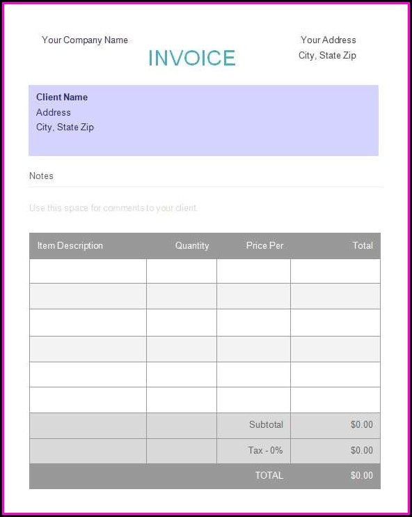 Deposit Invoice Template Word - Template 2  Resume Examples #PV8XxwJ8JQ