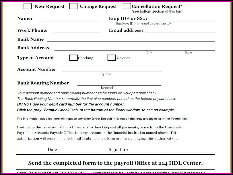 Direct Deposit Invoice Template - Template 2  Resume Examples
