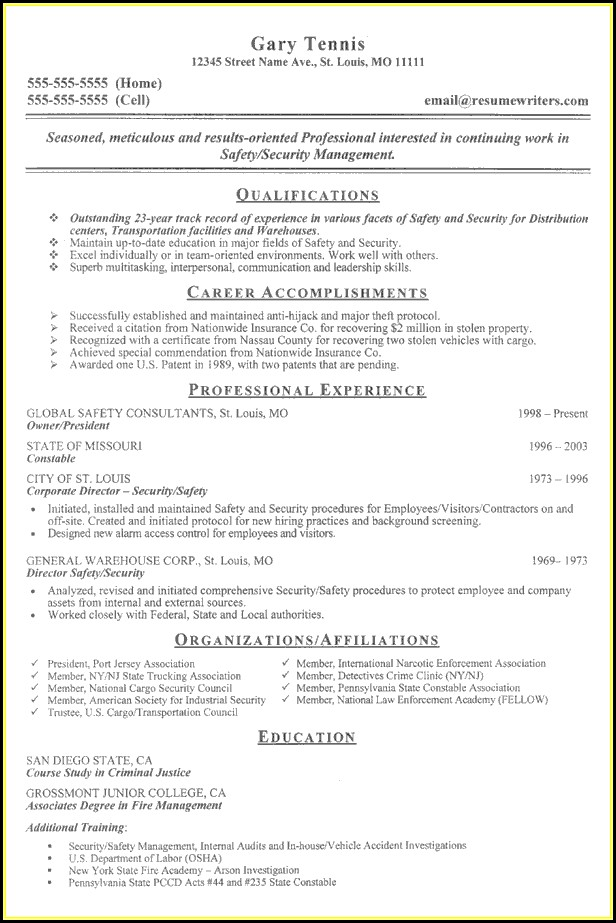 Example Of Security Guard Resume - Resume  Resume Examples #aL16jJW1X7