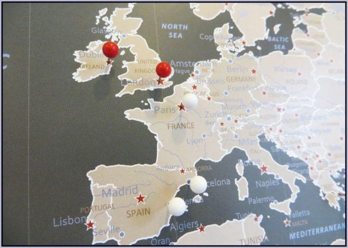 Big World Map Pinboard - Map  Resume Examples #ZL3nMzAKQ5