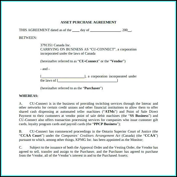California Residential Purchase Agreement Blank Form - Form  Resume