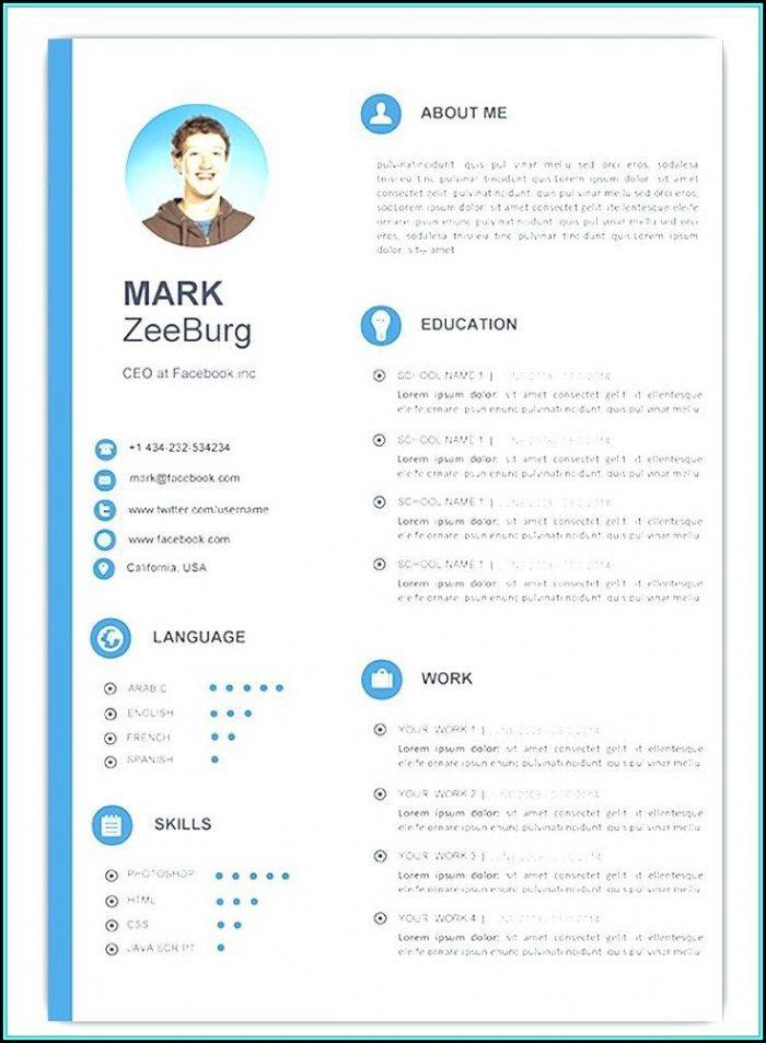 Attractive Resume Templates Free Download Microsoft Word - Template