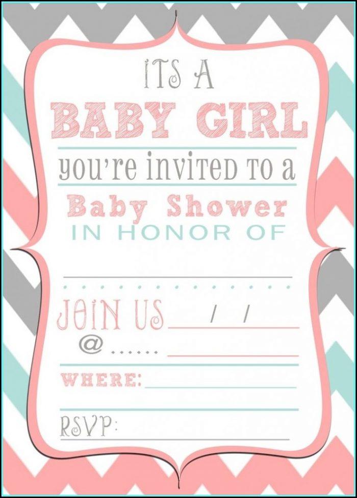 Free Baby Boy Shower Invitations Templates Pdf - Template 1  Resume