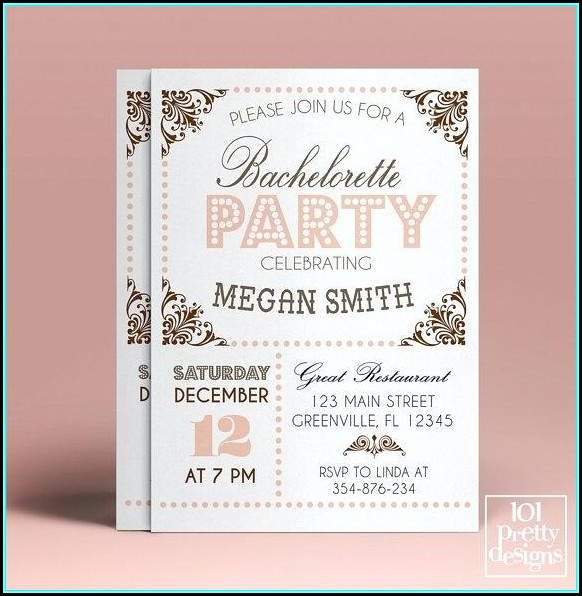 Bachelorette Party Invitation Templates Word - Template 1  Resume