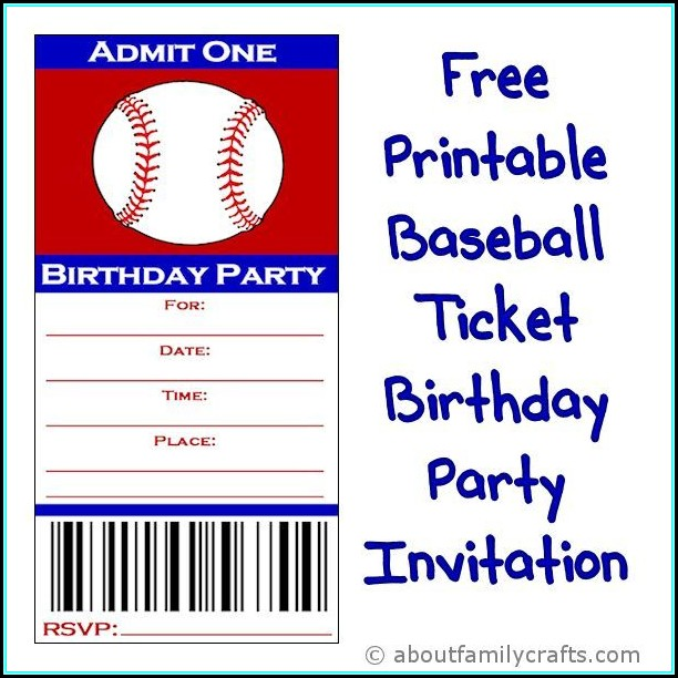 Baseball Party Invitation Template Free - Template 1  Resume