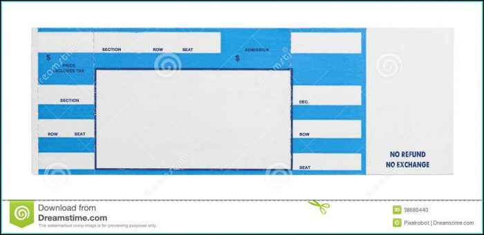 Concert Ticket Template Free - Template 1  Resume Examples #vq1P2wr3kR