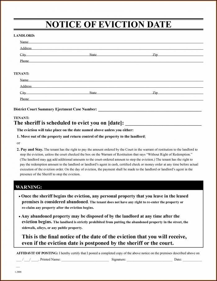 Free Eviction Letter Template Uk - Template 2  Resume Examples