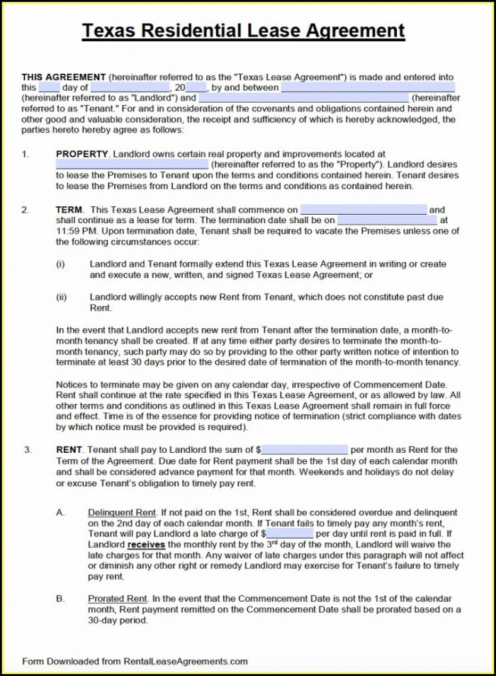 Free Printable 6 Month Lease Agreement Form - Form  Resume Examples