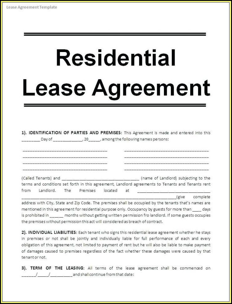 Free Printable Commercial Lease Agreement Forms - Form  Resume