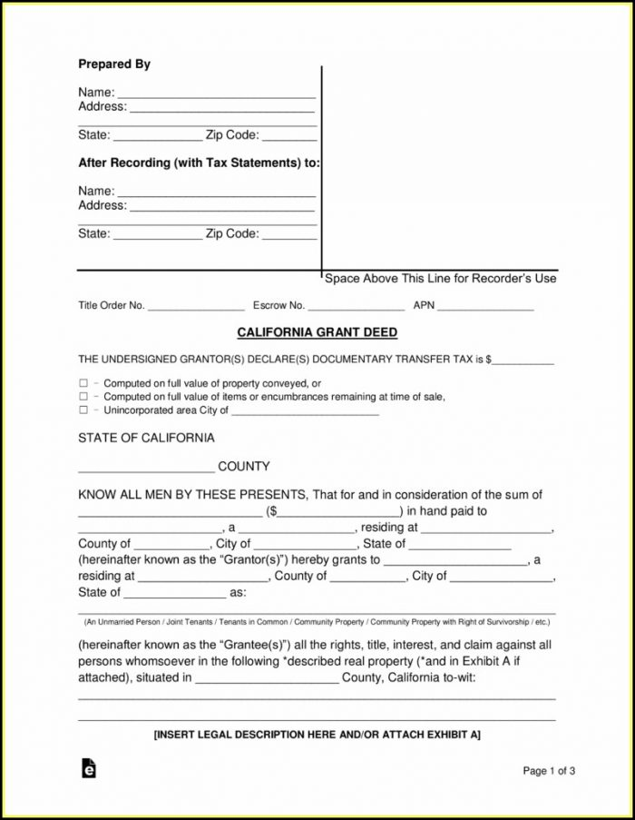 Grant Deed Form California Orange County - Form  Resume Examples