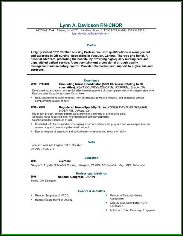 Nurse Resume Builder - Resume  Resume Examples #Vj1yZzvKyl