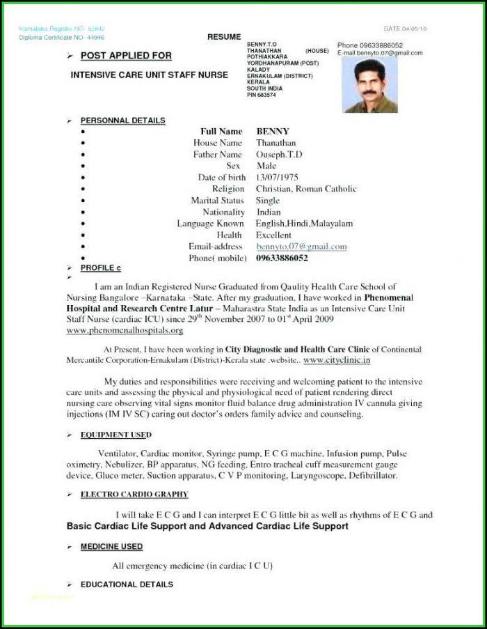 Gnm Nursing Resume Format Pdf - Resume  Resume Examples #jP8J5Zj3Vd