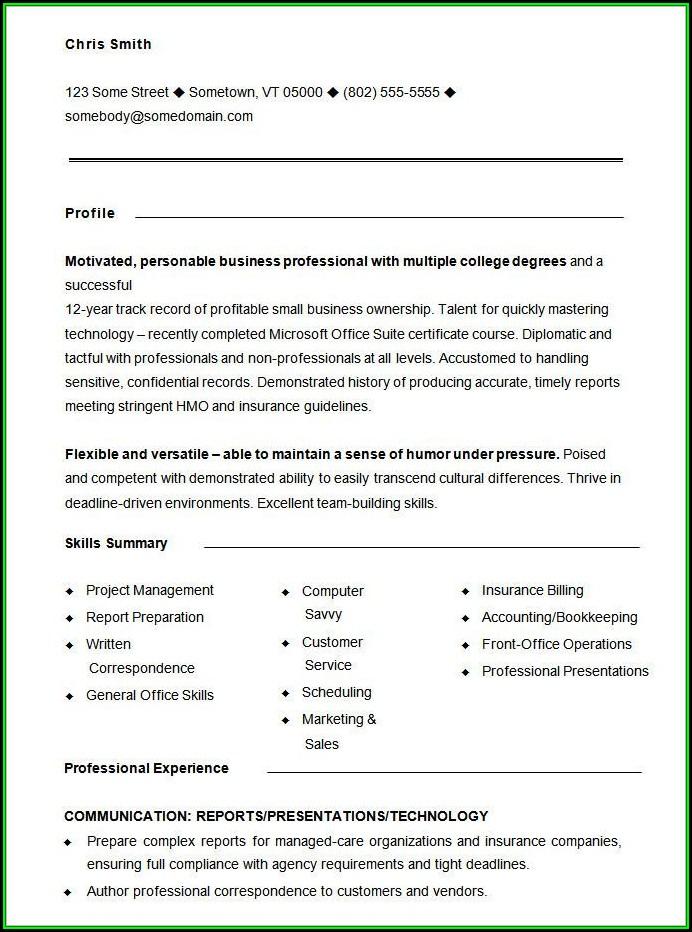 Printable Functional Resume Sample - Resume  Resume Examples