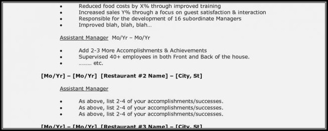Restaurant Manager Cv Template Download - Resume  Resume Examples