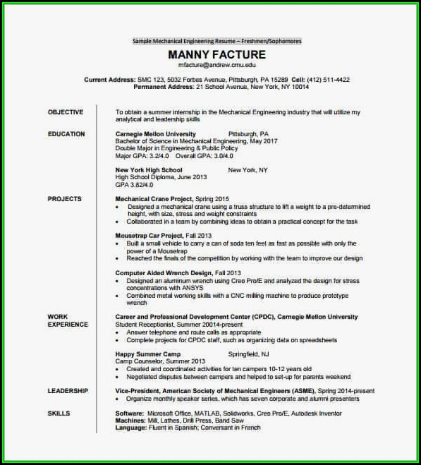 sample resume for diploma in computer science
