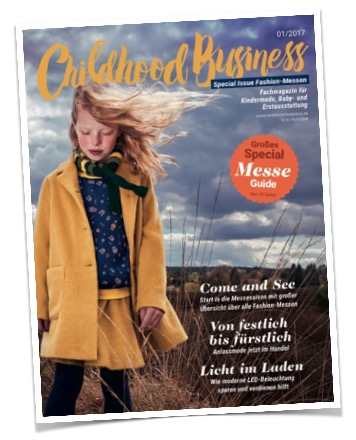 Cover der Ausgabe 01 / 2017 von Childhood Business - Messe-Guide der Kindermodemessen
