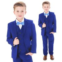 Electric Blue 5 Piece Bow Tie Suit