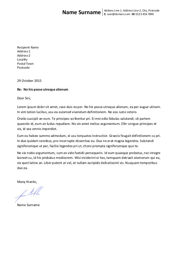 Write letters that create impact - use a personal letterhead Blog