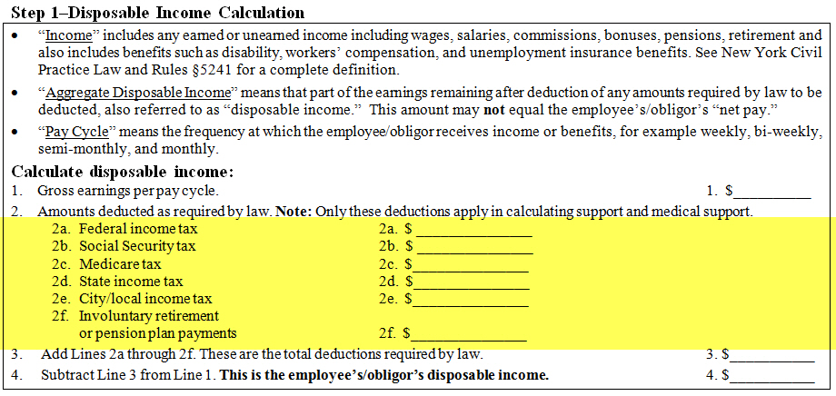 NYS DCSS Income Withholding Notice - payroll tax calculator nyc