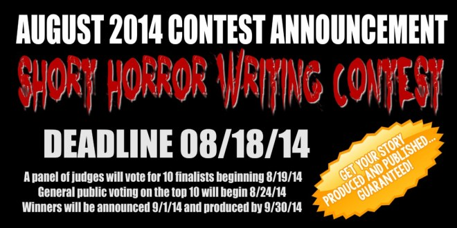 August 2014 Short Horror Writing Contest Announced!