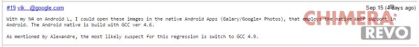 Nexus 4 Android L - bug tracker chrome