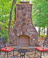 Outdoor Fireplaces | Atlanta | Outside Custom Fireplace ...