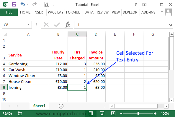 Entry1 Free Excel 2013 Online Course Entering Data
